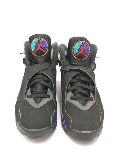 f826f41b603940 Pre-Owned Men s Nike AIr Jordan Retro 8 Aqua 2015 Remastered Size 9
