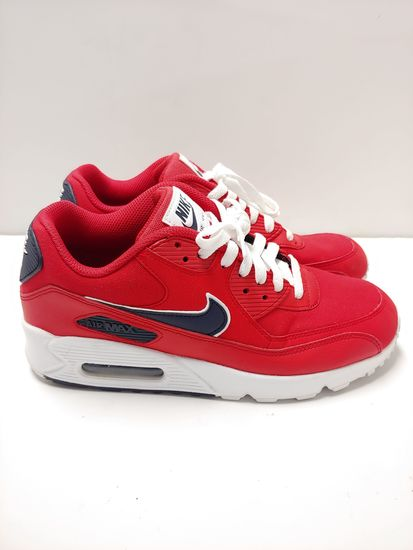 Mens University RedWhiteBlackened Blue Nike Air Max 90