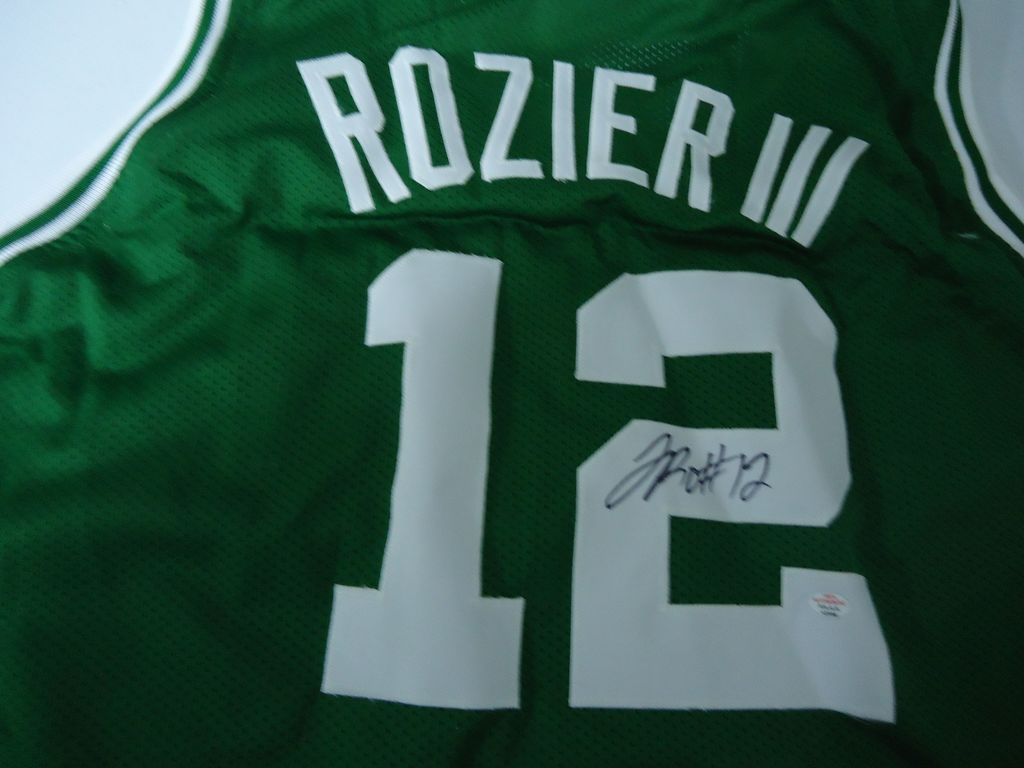 quality design 601e8 36f47 Lot: Terry Rozier III Boston Celtics signed green basketball ...