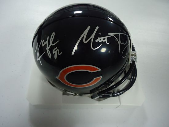 detailed pictures 5ad37 73e19 Khalil Mack Mitch Trubisky Bears Signed Autographed mini ...