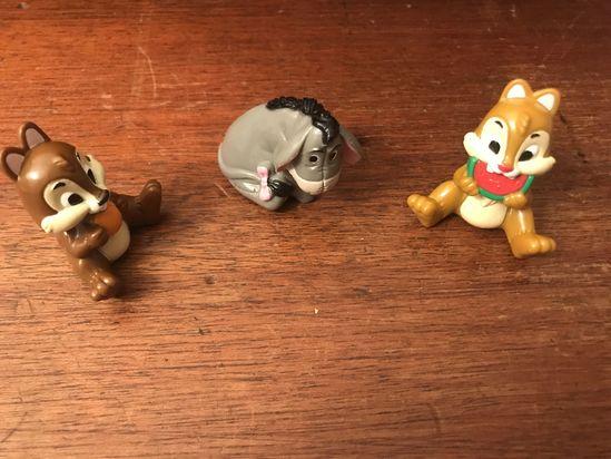 Lot of 3 Walt Disney figurines