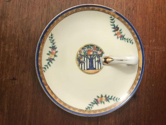 1930s Noritake Lemon plate with side handle