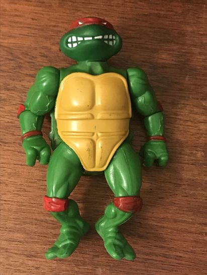1988 Teenage Mutant Ninja Turtle Raphael soft head