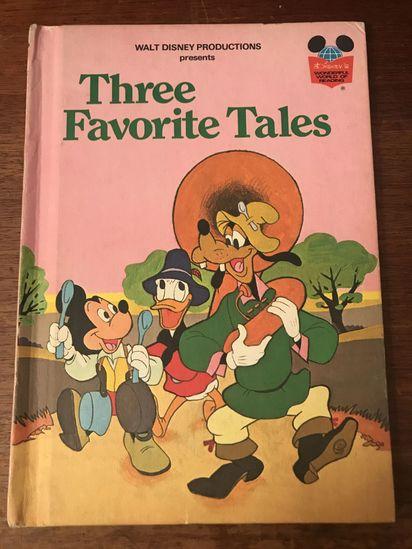 Wonderful world of Disney  book  Three Favorite Tales 1975