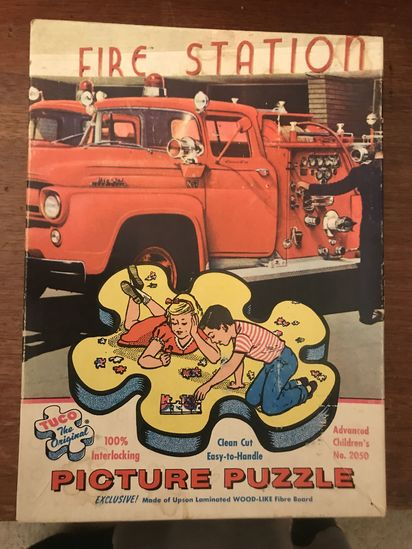 Vintage TUCO picture puzzle Fire Station #2050