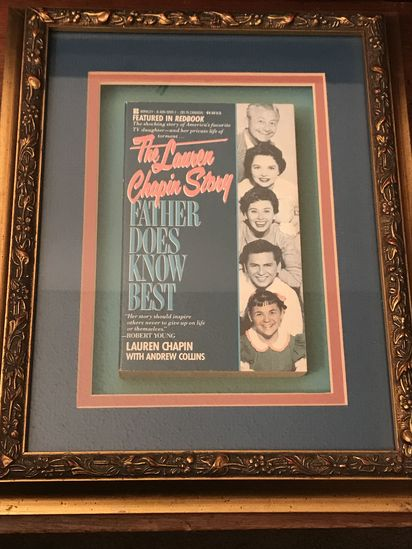 """Framed book """"The Lauren Chapin Story - Father Does Know Best"""""""