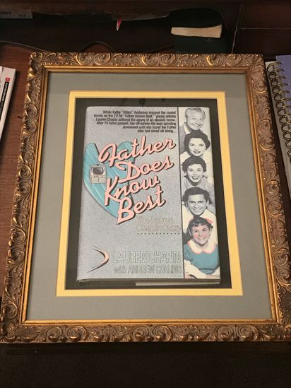 """Framed book """"Father Does Know Best""""  - The Story of Lauren Chapin"""