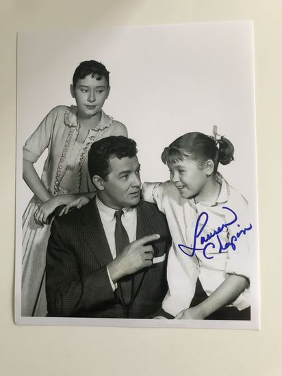 Photo from Father Knows Best signed by Lauren Chapin