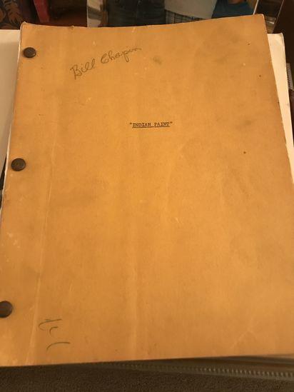 """Original Screenplay written by  Albert Barr-Smith from novel  """" Indian Paint"""" by Glenn Balch."""