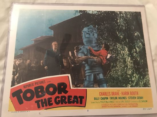 """Tobor The Great "" 1954 vintage movie Lobby Card 11X14"