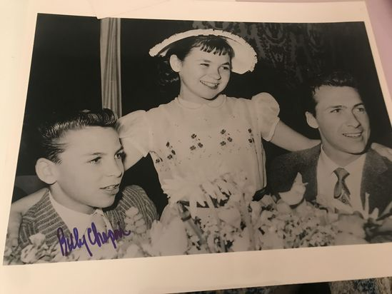 Autographed photo by Billy Chapin