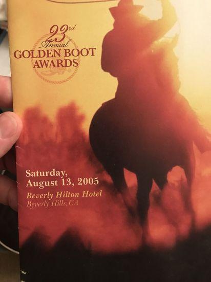 Original Programme Booklet for the 23rd Golden Boots Awards 2005 plus autographed memorabilia