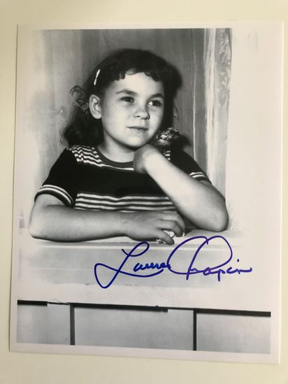 Autographed photos by Lauren Chapin