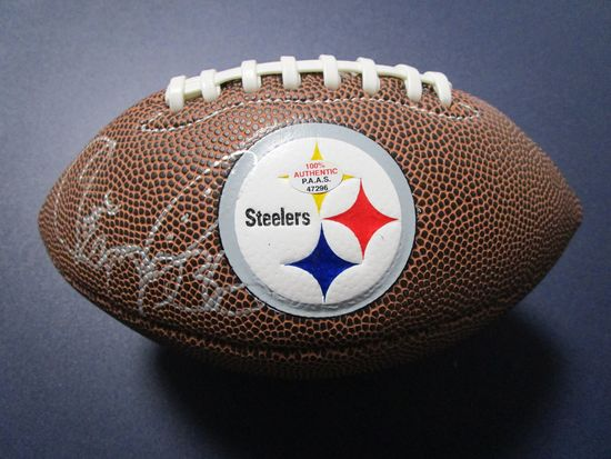 Jerome Bettis of the Pittsburgh Steelers signed autographed mini logo football PAAS COA 296