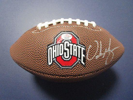 Urban Meyer of the OSU Buckeyes signed autographed mini logo football PAAS COA 316