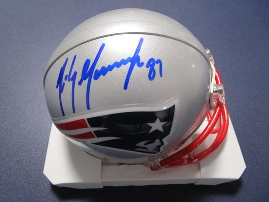 Rob Gronkowski of the New England Patriots signed autographed mini helmet PAAS COA 576