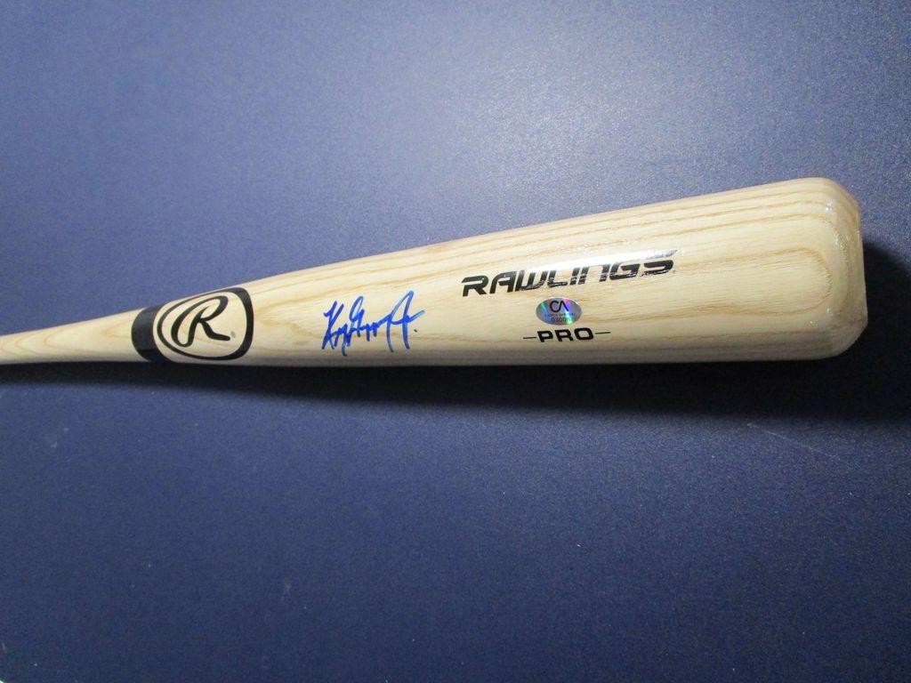 Ken Griffey Jr of the Cincinnati Reds Mariners signed autographed full size bat CA COA 006