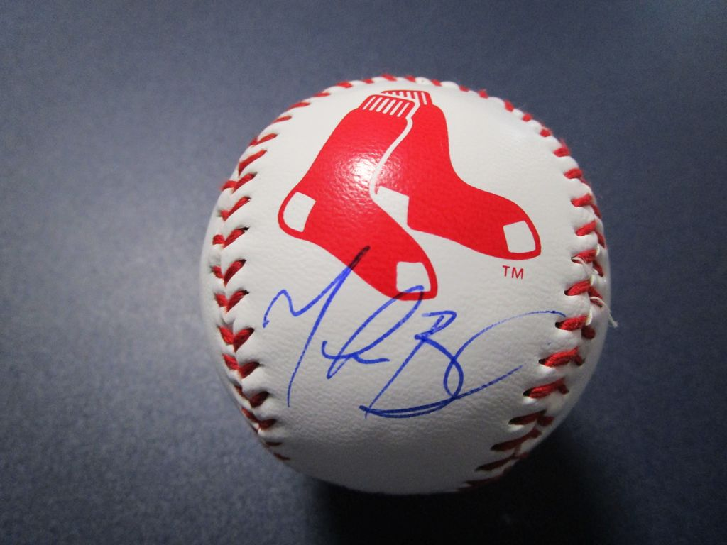 Mookie Betts of the Boston Red Sox signed autographed logo baseball ERA COA 037