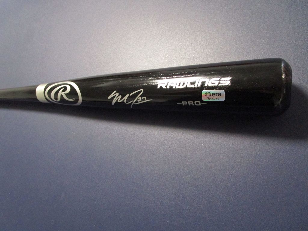 Mike Trout of the Anaheim Angels signed autographed full size baseball bat ERA COA 042