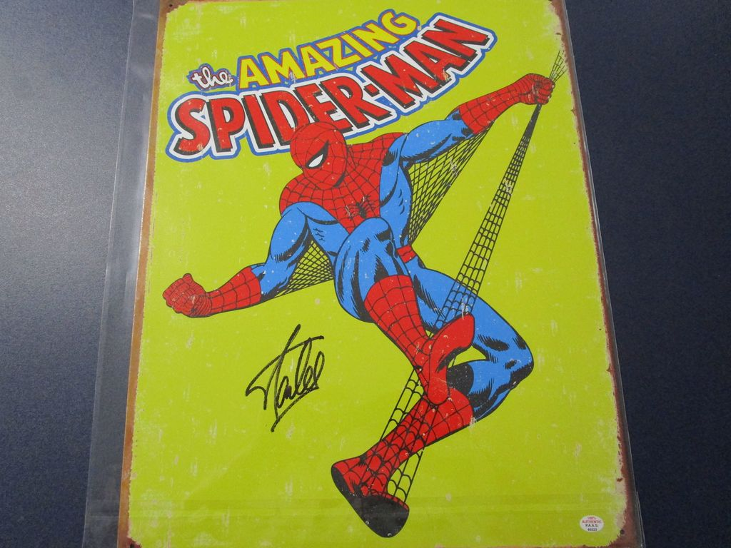 Stan Lee Amazing Spiderman signed autographed 11.5 x 16 metal sign PAAS COA 523