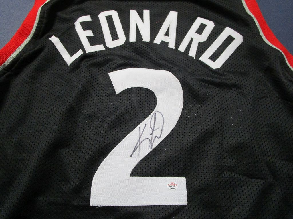 Kawhi Leonard of the Toronto Raptors signed autographed basketball jersey PAAS COA 969