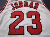 Michael Jordan of the Chicago Bulls signed autographed basketball jersey ATL COA 483