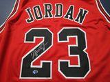 Michael Jordan of the Chicago Bulls signed autographed basketball jersey ATL COA 485