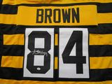 Antonio Brown of the Pittsburgh Steelers signed autographed bumblebee jersey PAAS COA 304