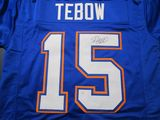 Tim Tebow of the Florida Gators signed autographed football jersey PAAS COA 341