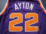 DeAndre Ayton of the Phoenix Suns signed autographed basketball jersey PAAS COA 910