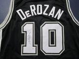 DeMar DeRozan of the San Antonio Spurs signed autographed basketball jersey PAAS COA 886