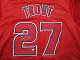 Mike Trout of the Anaheim Angels signed autographed baseball jersey PAAS COA 716