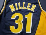 Reggie Miller of the Indiana Pacers signed autographed basketball jersey PAAS COA 665