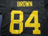 Antonio Brown of the Pittsburgh Steelers signed autographed football jersey PAAS COA 321