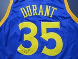 Kevin Durant of the Golden State Warriors signed autographed basketball jersey PAAS COA 541