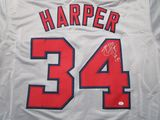Bryce Harper of the Washington Nationals signed autographed baseball jersey PAAS COA 206