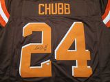 Nick Chubb of the Cleveland Browns signed autographed football jersey PAAS COA 676