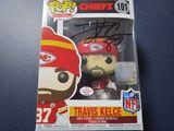 Travis Kelce of the Kansas City Chiefs signed autographed pop vinyl figure PAAS COA 619