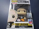 Terry Bradshaw of the Pittsburgh Steelers signed autographed pop vinyl figure PAAS COA 612