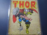 Stan Lee Mighty Thor signed autographed 11.5 x 16 metal sign PAAS COA 510