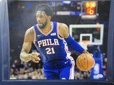 Joel Embiid of the Philadelphia 76ers signed autographed 8x10 photo PAAS COA 908