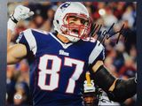 Rob Gronkowski of the New England Patriots signed autographed 8x10 photo PAAS COA 241