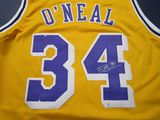Shaquille O'Neal of the Los Angeles Lakers signed autographed basketball jersey PAAS COA 841