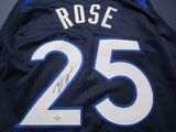 Derrick Rose of the Minnesota Timberwolves signed basketball jersey Five Star COA 685
