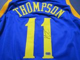 Klay Thompson of the Golden State Warriors signed autographed basketball jersey ERA COA 053