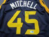 Donovan Mitchell of the Utah Jazz signed autographed basketball jersey ERA COA 054