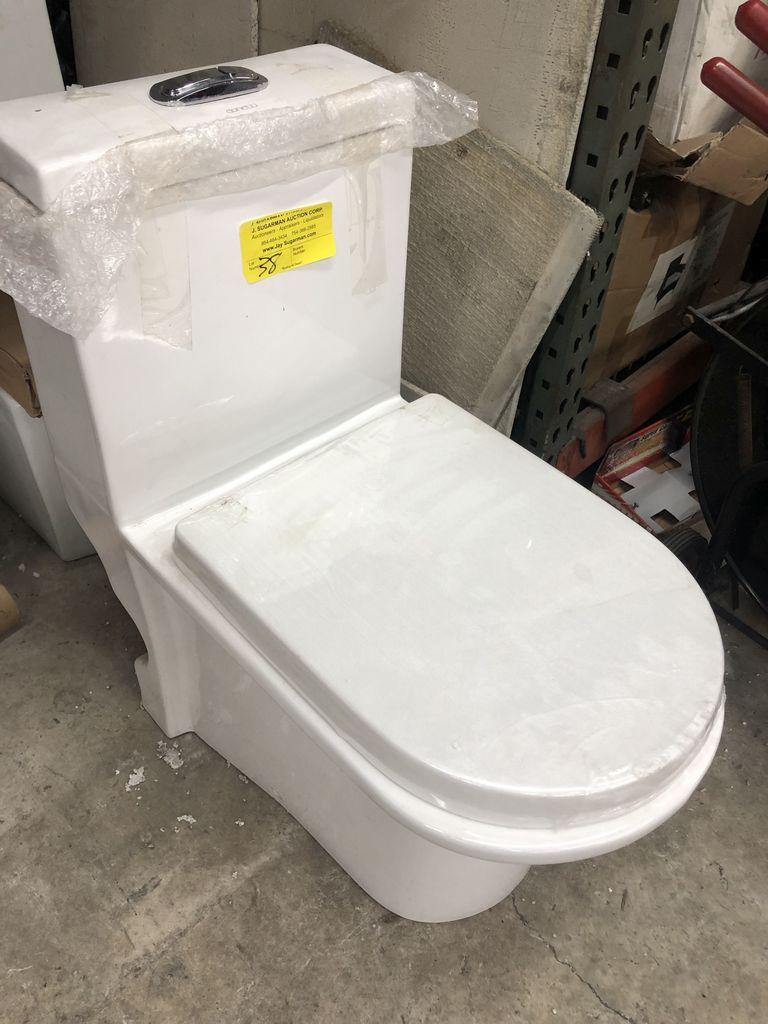 New One Piece White Toilet