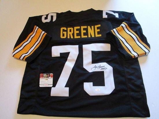 Joe Greene, NFL Hall of Fame, 4 time Super Bowl Champ Autographed Jersey w COA