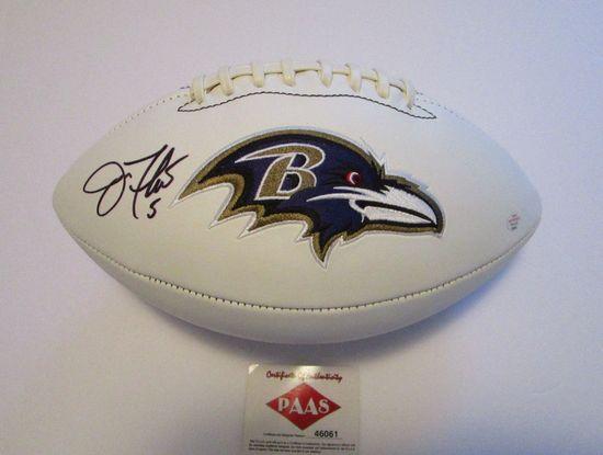 Joe Flacco, Super Bowl MVP, Baltimore Ravens, Autographed Football w COA