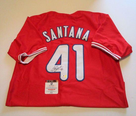 Carlos Santana, Philadelphia Phillies Star, Autographed Jersey w COA